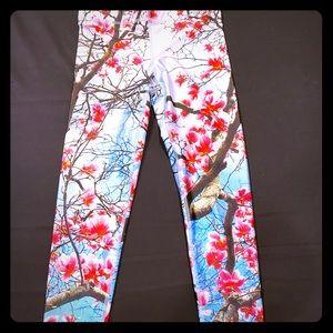Terez cherry blossom print leggings